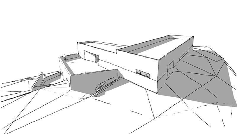 Proyecto Arquitectura Aula de Interpretación de la Naturaleza en el Granado, Huelva